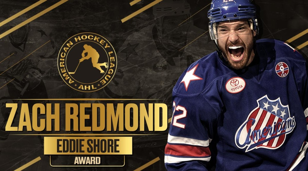 AMERKS' REDMOND EARNS EDDIE SHORE AWARD