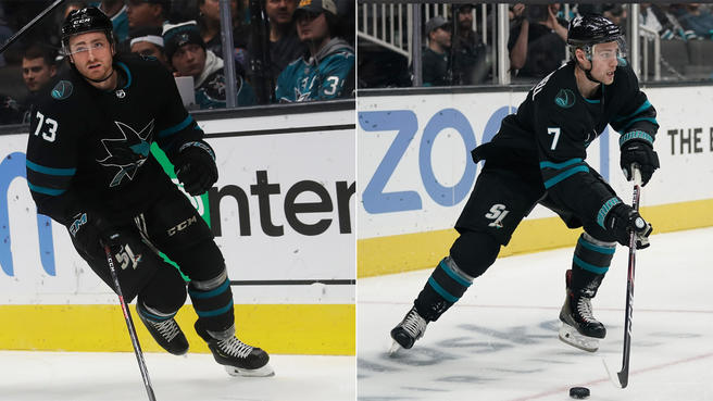 How Sharks' Dylan Gambrell, Noah Gregor have seized regular roles