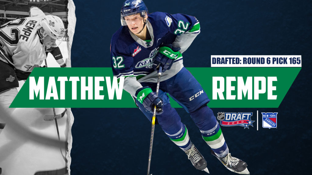 Matthew Rempe Selected 165th Overall By New York Rangers