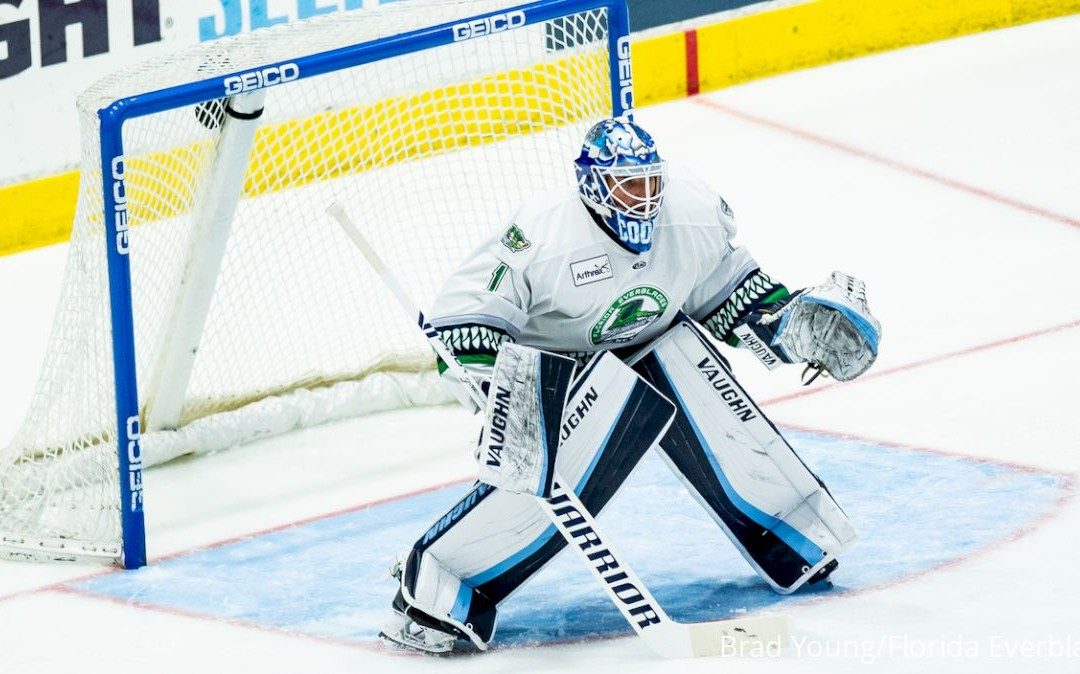 Former Denver Standout Devin Cooley Helps Everblades Reload In The Crease